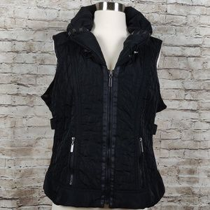 Laura Ashley |Black Quilted Vest| Petite L